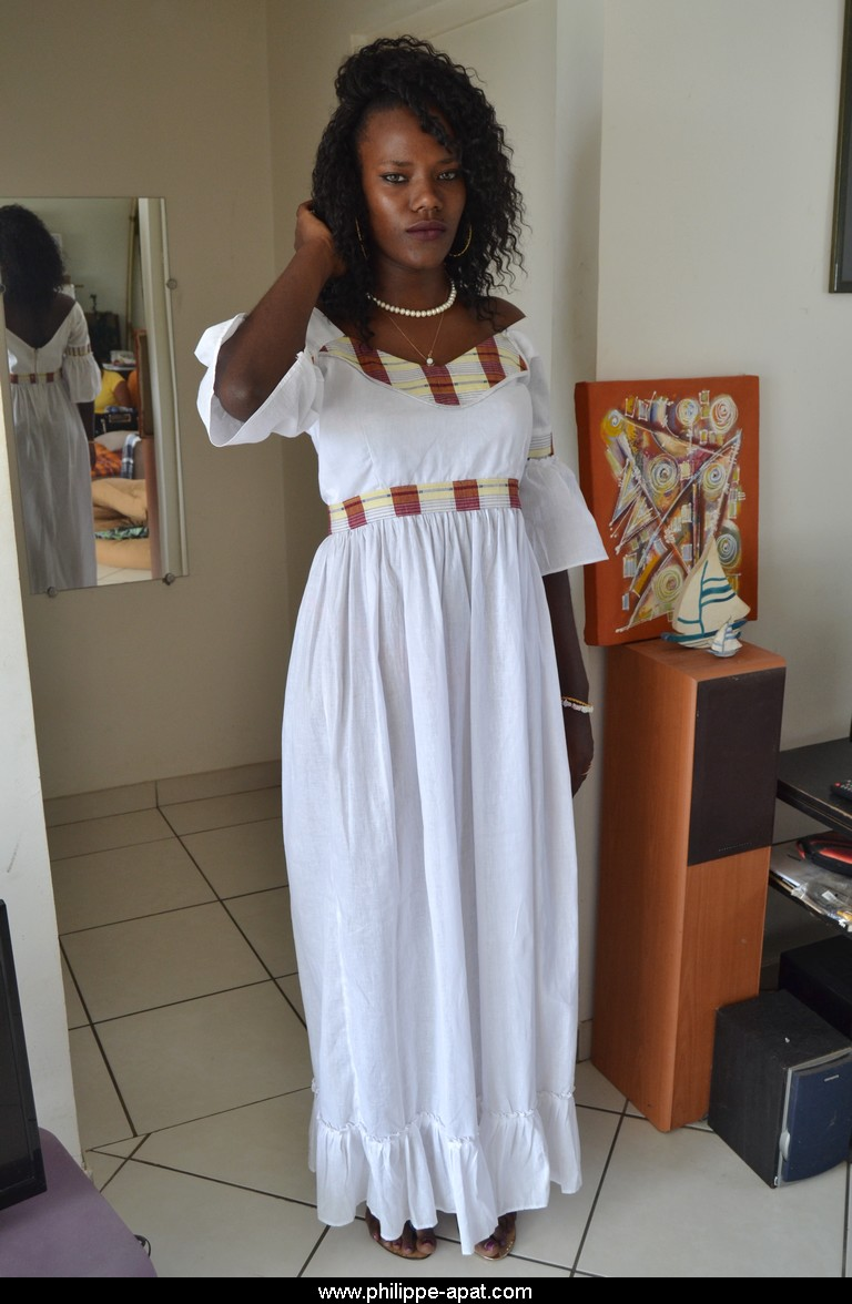 robe africaine philippe apat boubou homme femme coton blanc